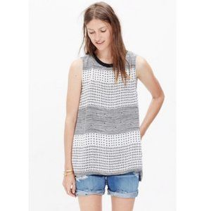 MADEWELL Refined Tank Top in Hashtag Stripe Medium